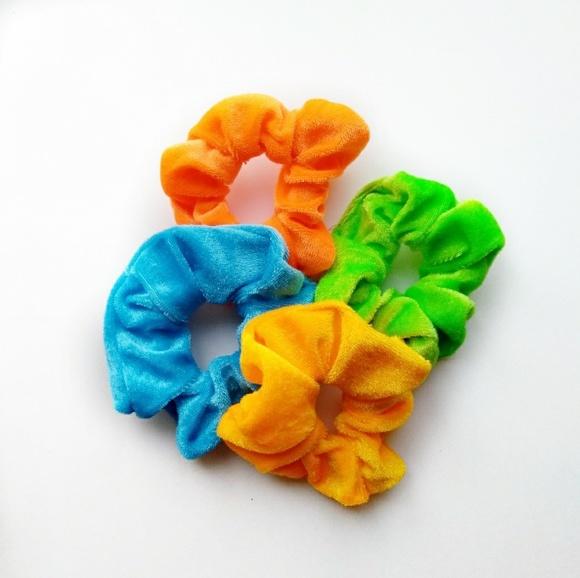 ab3bac79e9a0 unbranded Accessories | New Velvet Scrunchies Blue Orange Green ...